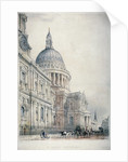 South-west view of St Paul's Cathedral from St Paul's Churchyard, City of London by