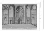 Interior view of the choir of the old St Paul's Cathedral from the west, City of London by Wenceslaus Hollar