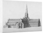 South elevation of the old St Paul's Cathedral, City of London by William Finden