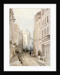 Paternoster Row, City of London by Thomas Colman Dibdin