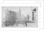 North side of St Paul's Churchyard, with the end of Cheapside, City of London by Thomas Horner