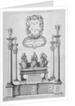 Monument of Sir John Woolley in old St Paul's Cathedral, City of London by Wenceslaus Hollar