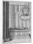 Tomb of John Beauchamp in old St Paul's Cathedral, City of London by Wenceslaus Hollar