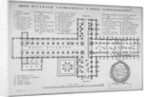 Plan of the old St Paul's Cathedral, City of London by J Harris