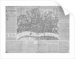 Map of the City of London surrounded by descriptive text by Anonymous