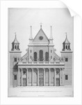 West front of the old St Paul's Cathedral, 1630s (1714) by Hendrick Hulsbergh
