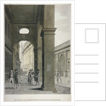 Arcade on the north front of the Royal Exchange, City of London by