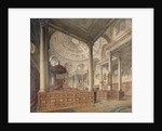 Interior view of the Church of St Stephen Walbrook, City of London by John Coney