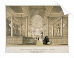 Interior view looking east, Church of St Stephen Walbrook, City of London by