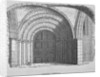 West entrance of Temple Church, City of London by
