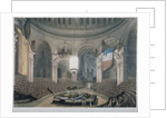 The ceremony of Lord Nelson's burial at St Paul's Cathedral, City of London by FC Lewis