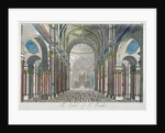 Interior of St Paul's Cathedral, looking east from the nave towards the choir, City of London by