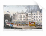View of Temple Bar during Queen Victoria's visit to the City of London in 1837 by W Smart