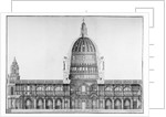 Longitudinal section of St Paul's Cathedral, City of London by Anonymous