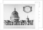 Longtitudinal section through St Paul's Cathedral, City of London by Anonymous