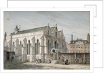 View of Temple Church, City of London by George Shepherd