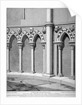 Part of the vestibule of the Temple Church, City of London by