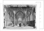Interior view of Temple Church, City of London by John Boydell