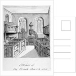Interior view of the French Protestant Church, Threadneedle Street, City of London by