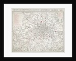 Map of Greater London showing the Metropolitan Railways and improvements in 1866 by Anonymous