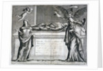 Invitation card to a funeral at Bunhill Fields in 1737 by