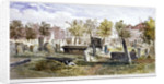 View of tombs and memorial stones in Bunhill Fields, Finsbury, Islington, London by Anonymous
