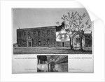 West view of the Lock Hospital, Kingsland Road, Hackney, London by William Wise