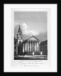 St George's Church, Bloomsbury, Holborn, London by W Wallis