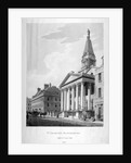 View of the Church of St George, Bloomsbury, London by Thomas Malton II
