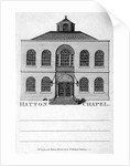 Front view of Hatton Chapel, Hatton Garden, London by Anonymous