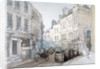 Bread Street Hill and St Nicholas Olave Churchyard, City of London by Thomas Colman Dibdin