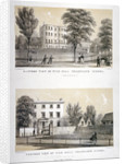 Two views of Wick Hall Collegiate School, Hackney, London by TJ Rawlins