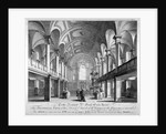 Sectional view of the Church of St Giles in the Fields, Holborn, London by