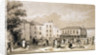 View of the playground of Burlington House and School, Fulham, London by