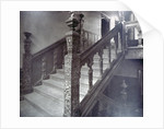 Interior view of the Grand Staircase in Charterhouse, London by