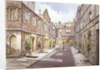 View of almshouses in Cock Court, Jewry Street, City of London by John Crowther