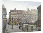 View of buildings in Great St Helen's, City of London by John Crowther