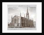 North-east view of the Church of St Mary the Less, Lambeth Butts, London by John Chessell Buckler