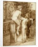 Two Boys at a Water Fountain by Anna Lea Merritt