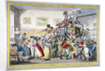 A swarm of English bees hiving in the Imperial carriage!! a scene at the London Museum by George Cruikshank