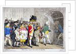 Election-troops, bringing in their accounts, to the pay-table by James Gillray