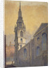 Church of St Mary le Bow from Bow Churchyard, City of London by