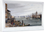 View of the east side of Southwark Bridge, London by Robert Havell