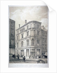 Dunstan House, on the corner of Fleet Street and Whitefriars Street, City of London by G Moore