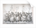 Procession to the hustings after a successful canvass, no:14 by Thomas Rowlandson