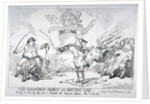 The Hanoverian horse and British lion by Thomas Rowlandson