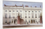 View in Lincoln's Inn Fields showing Lindsey House, Holborn, London by Thomas Hosmer Shepherd