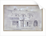 View of Salem Chapel and a tobacconists in Fitzroy Square, London by Anonymous