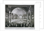 Interior view of Surrey Chapel with a service taking place, Southwark, London by J Wilmshurst