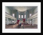 Interior view of St Pancras New Church, London by W Guest